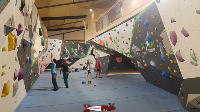 A large block for adults at totem climbing ecublens