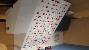 A moonboard at totem climbing Ecublens