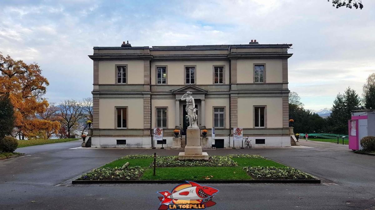 La maison de maitre qui héberge le musée.