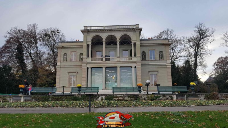 The history of sciences museum from the lake leman side