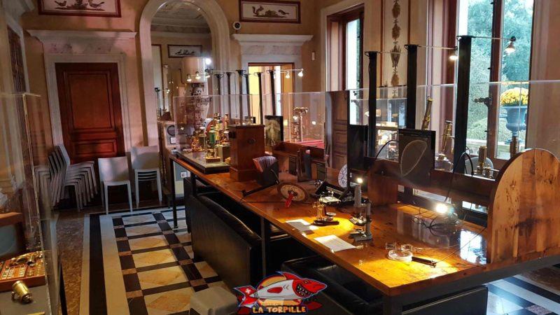 optics room at the History of Science Museum Geneva