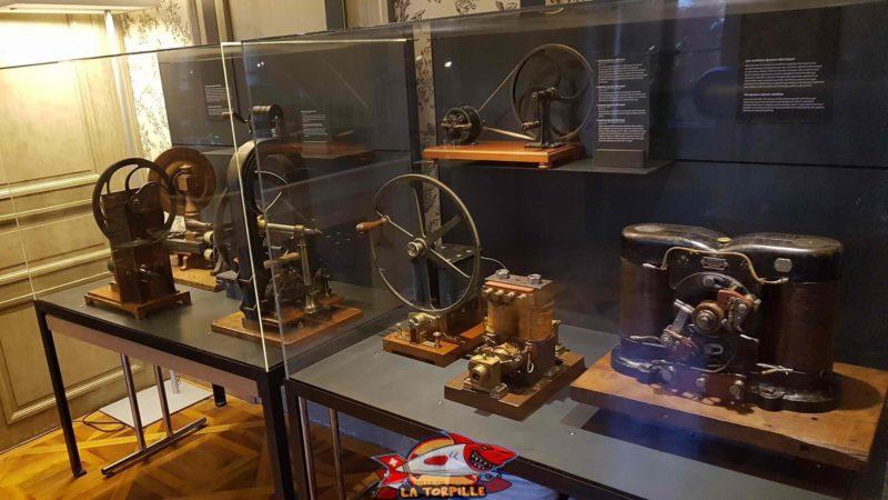 la section sur l'électricité au musée d'histoire des sciences à genève