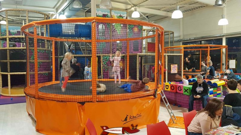 Several trampolines for babies and kids at jayland gland leisure center