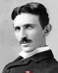 Nikola Tesla (1856-1943). Born in Croatia during the time of the Austrian Empire, he emigrated to the United States and developed the first alternators for alternating current electricity production. Today, Tesla's name is known as an electric car manufacturer.