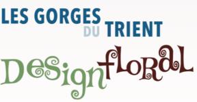 logo des gorges du trient et design floral vernayaz