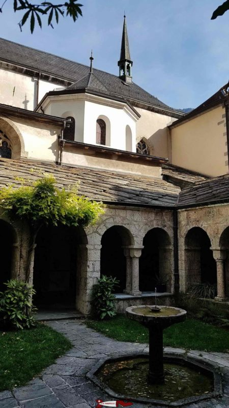 The cloister of the abbey of Saint-Maurice