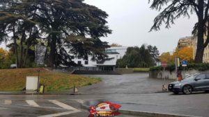 L'entrée du parc de Malagnou.