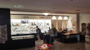 the shop on the ground floor of the Geneva Natural History Museum