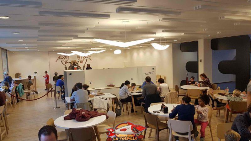 le café du musée d'histoire naturelle de geneve au premier étage
