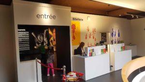 L'entrée de l'exposition temporaire dans le musée d'histoire naturelle de Genève