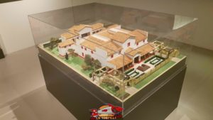 A model of a Roman villa in the Geneva area at the geneva's art and history museum