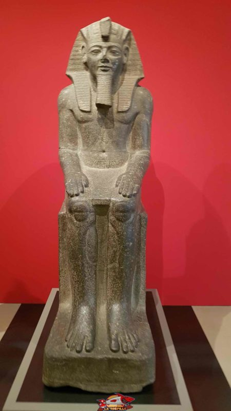 An Egyptian statue on the first floor on archaeology in the geneva's museum of art and history