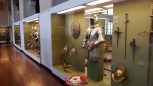 Ancient firearms, armour and swords from the 15th to 17th centuries at the geneva's museum of art and history