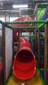Red slide in jayland villars-sainte-croix near crissier