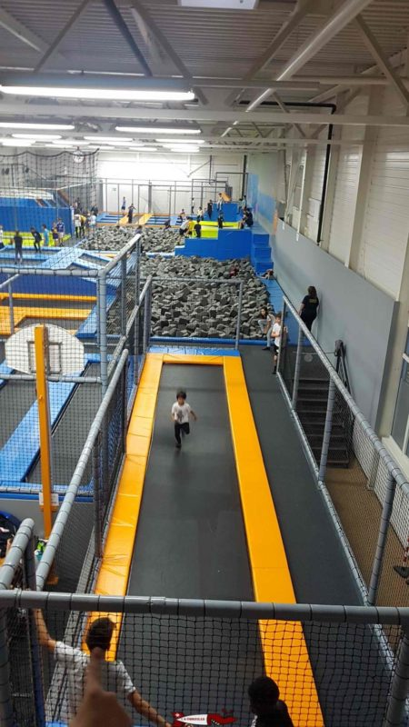 The tumbling trampoline at Jumpark.