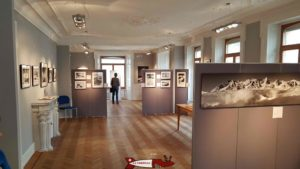 the room hosting the temporary exhibitions of the museum of earth sciences in martigny