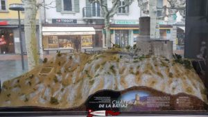 Une maquette de la Bâtiaz en vieille ville de Martigny.