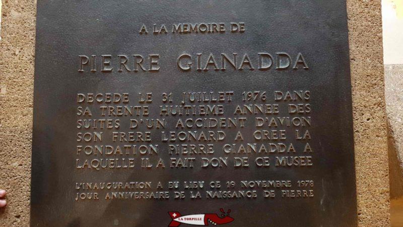 A commemorative plate for Pierre Gianadda - Gianadda Foundation in Martigny
