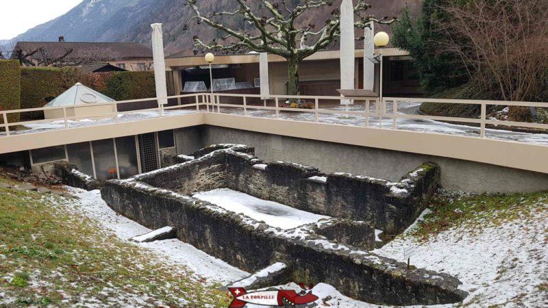 outdoor park at the gianadda foundation in Martigny
