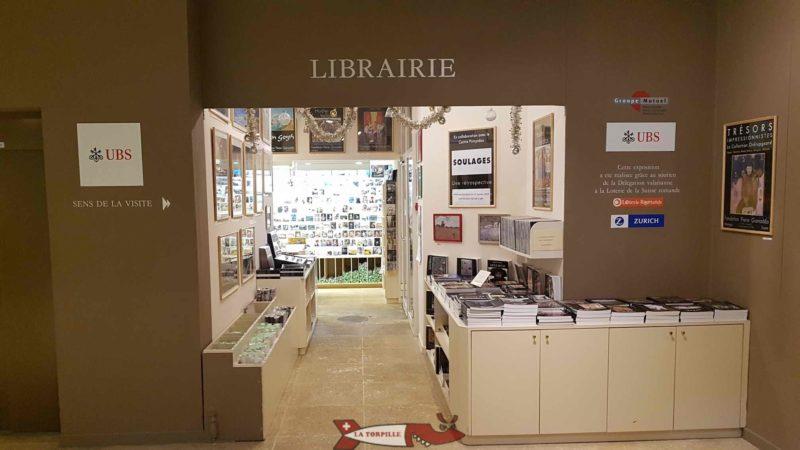 The Gianadda Foundation shop at the gianadda foundation in Martigny