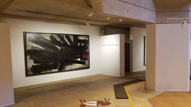 """the exhibition """"Soulages"""" at the Gianadda Foundation in Martigny"""