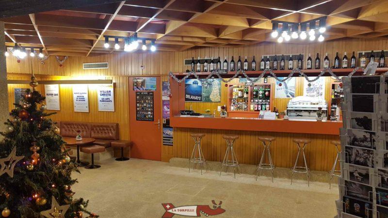 La caféteria au 2e sous-sol de la fondation Gianadda à Martigny