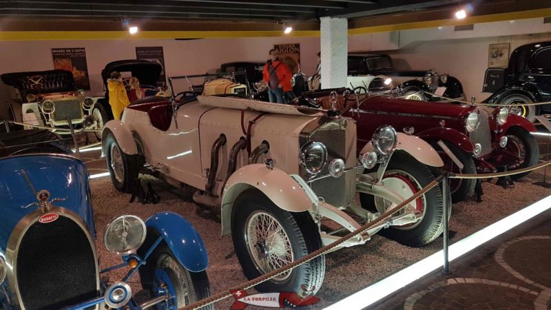 Cars on display at the Automobile Museum of the gianadda foundation in Martigny