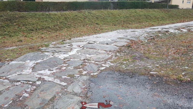old Roman road in Martigny - Forum Clavdii Vallensium