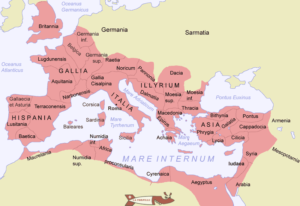The segmentation into provinces of the Roman Empire.