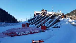 The start of the slopes at the leysin tobogganing park