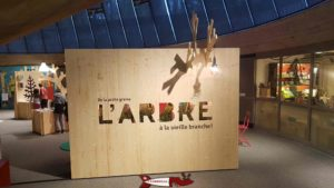 "The start of the exhibition during the exhibition entitled ""L'Arbre"" (The Tree) - lausanne invention space"