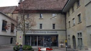 The entrance to the Gutenberg Museum in Friburg