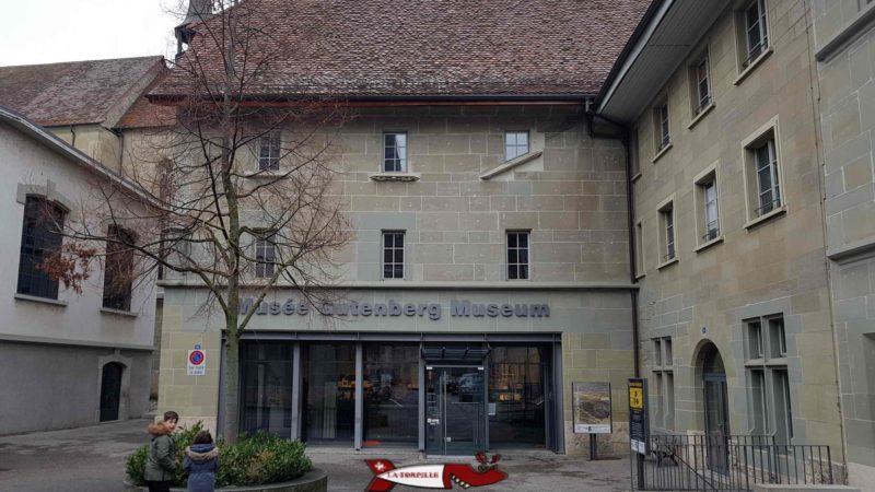 L'entrée du musée Gutenberg à fribourg