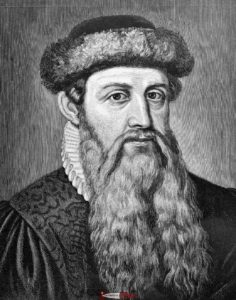 Portrait of Gutenberg made after his death