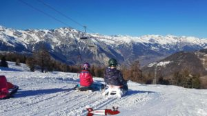 Nice view of the northern slope of the Rhone Valley from the Tzoumaz sledding run.