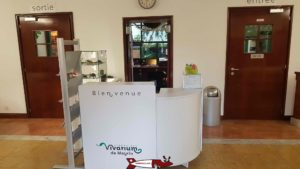La réception du vivarium de meyrin