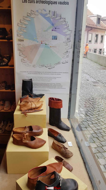 Waldensian archaeological leathers at the shoe museum