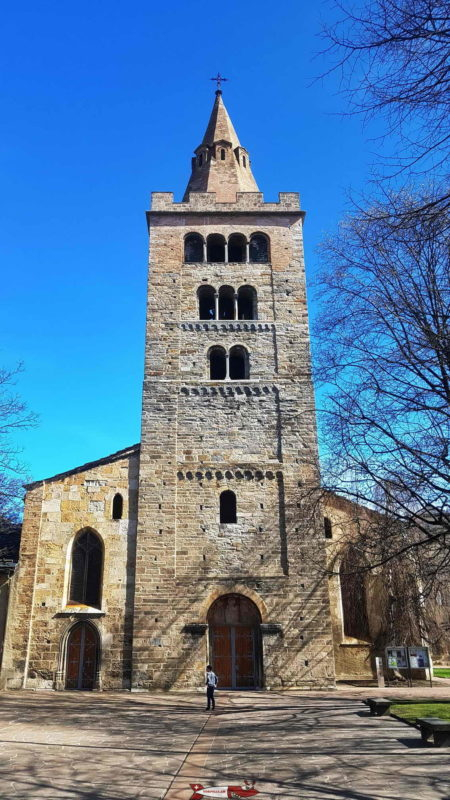 The bell tower of the cathedral of Sion