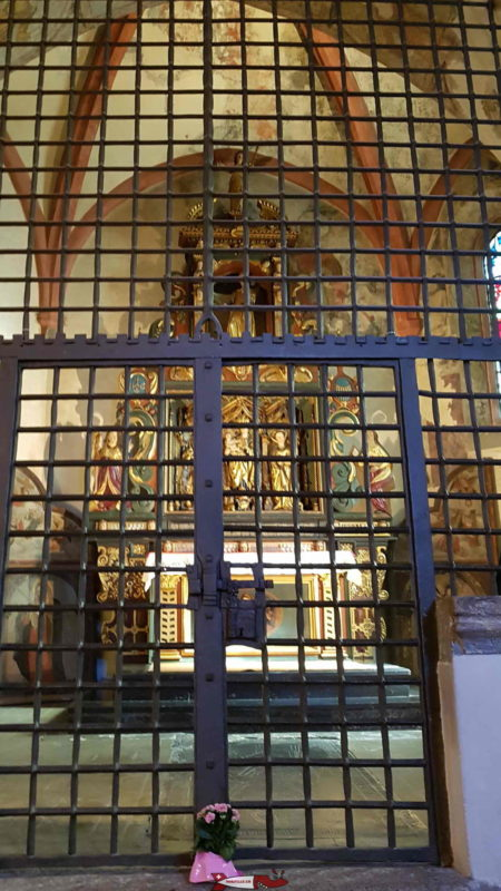 The Chapel of Saint Anthony behind a fence at the cathedral of Sion