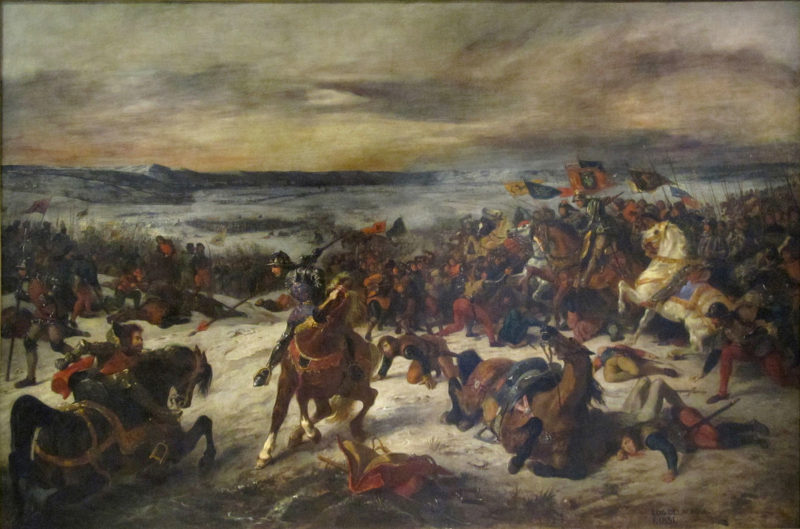 A painting by Eugène Delacroix on the Battle of Nancy.