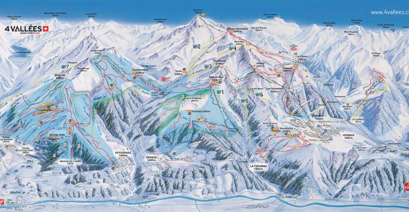 Le domaine skiable des 4 vallées.