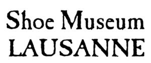 logo musée de la chaussure lausanne