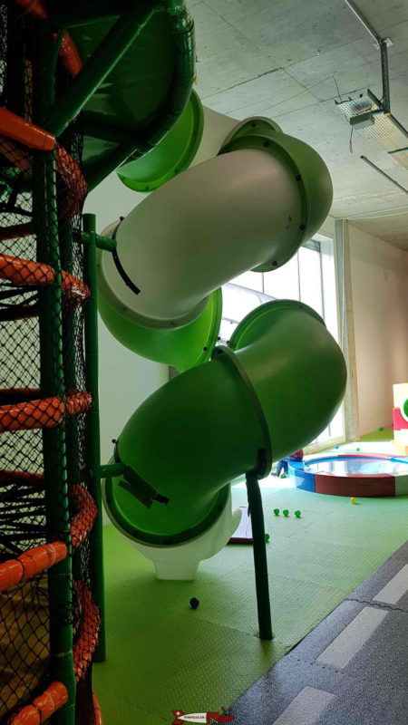 """A tower with a """"twist"""" slide at Kids Fun Park Etoy"""