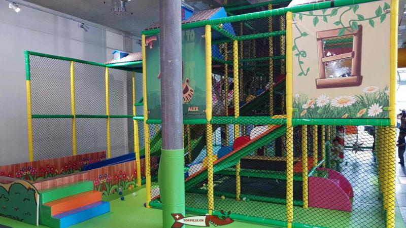 Three slides in parallel at Kids Fun Park Etoy