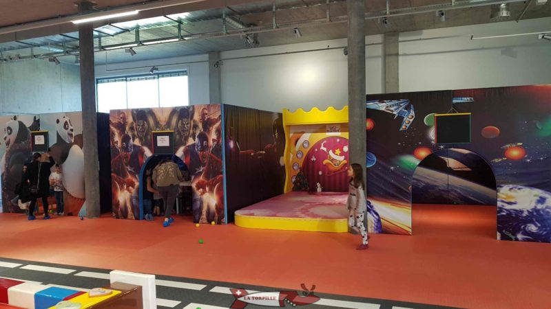 Several tents for birthdays at Kids Fun Park Etoy