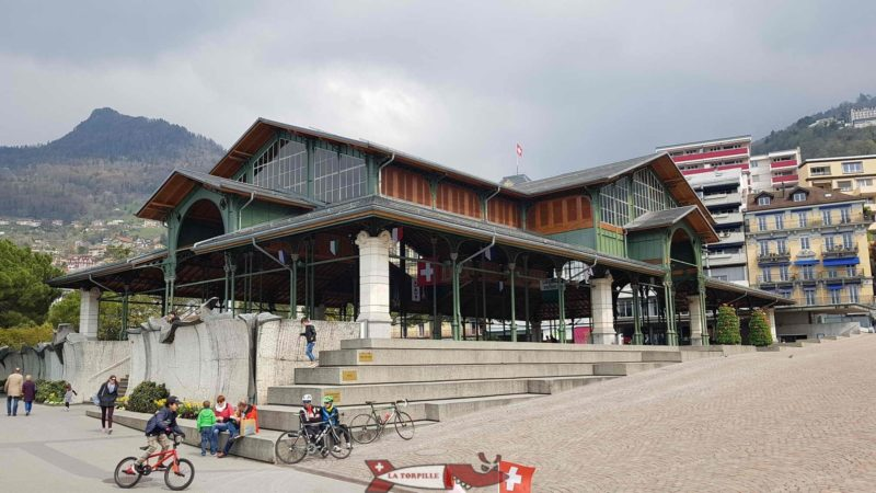 The covered market of Montreux.