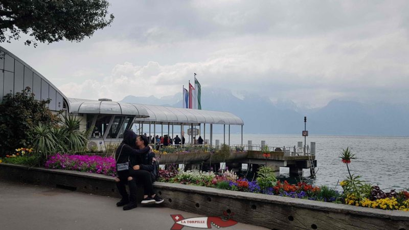 The Montreux landing stage.