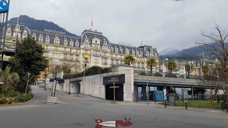 Montreux Palace from the little train.