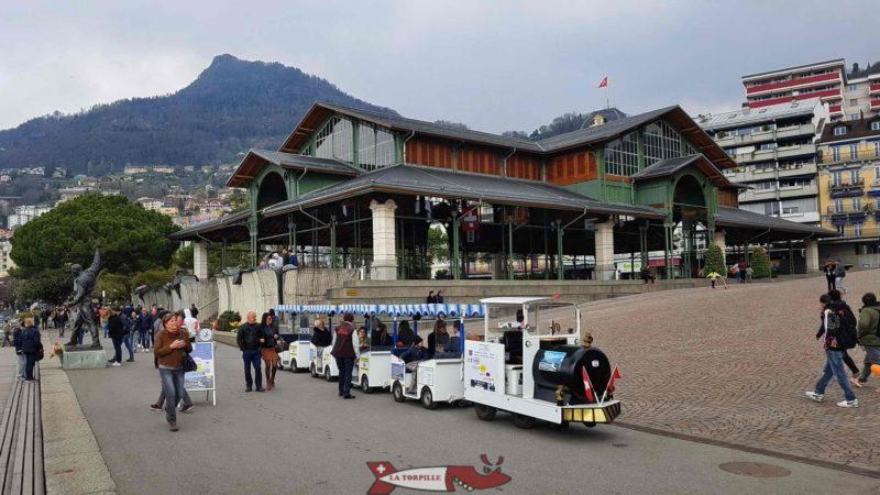 le petit train des quais de Montreux.