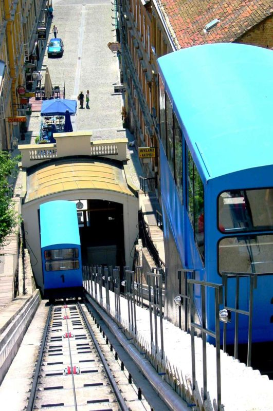 The Zagreb funicular has a journey time of less than one minute.